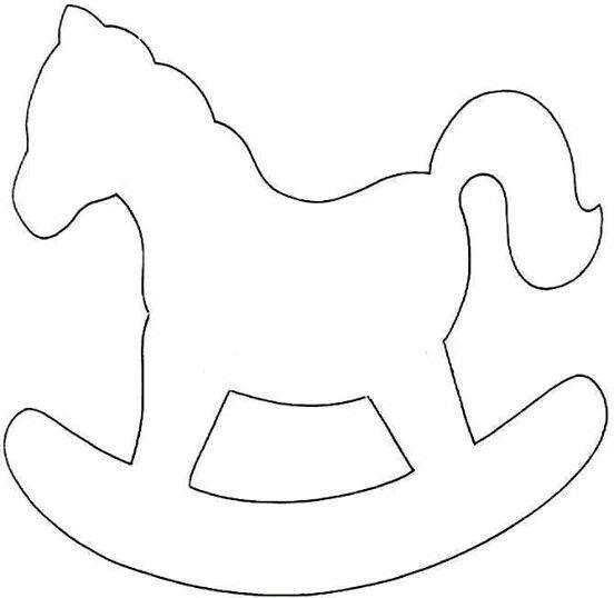 Sagoma Cavallo A Dondolo Disegno.Cavallo Sagoma Fai Da Te Feltro Cavalli A Dondolo E Decorazioni