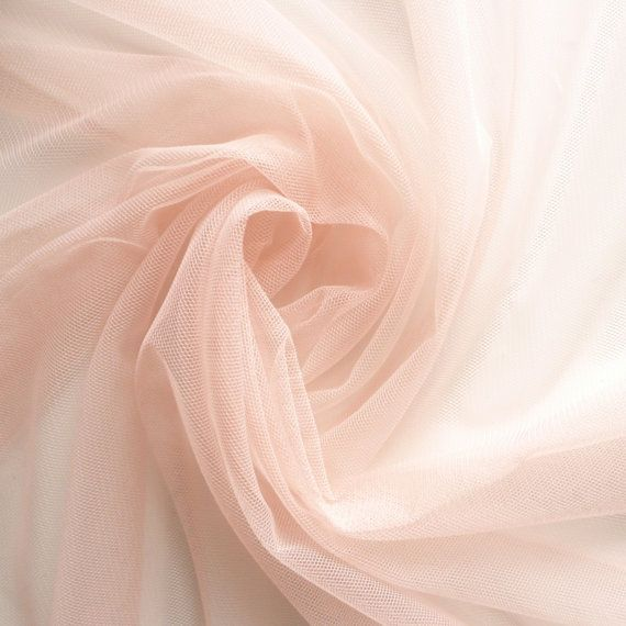 Blush Pastel Peach Soft Tulle Veiling Fabric 150cm wide - Sold by the metre (H2)