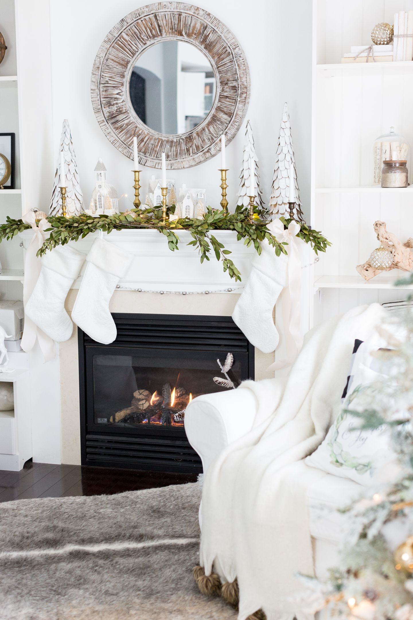 hallstrom home the best christmas farmhouse decor on amazon - Fireplace Christmas Decorations Amazon