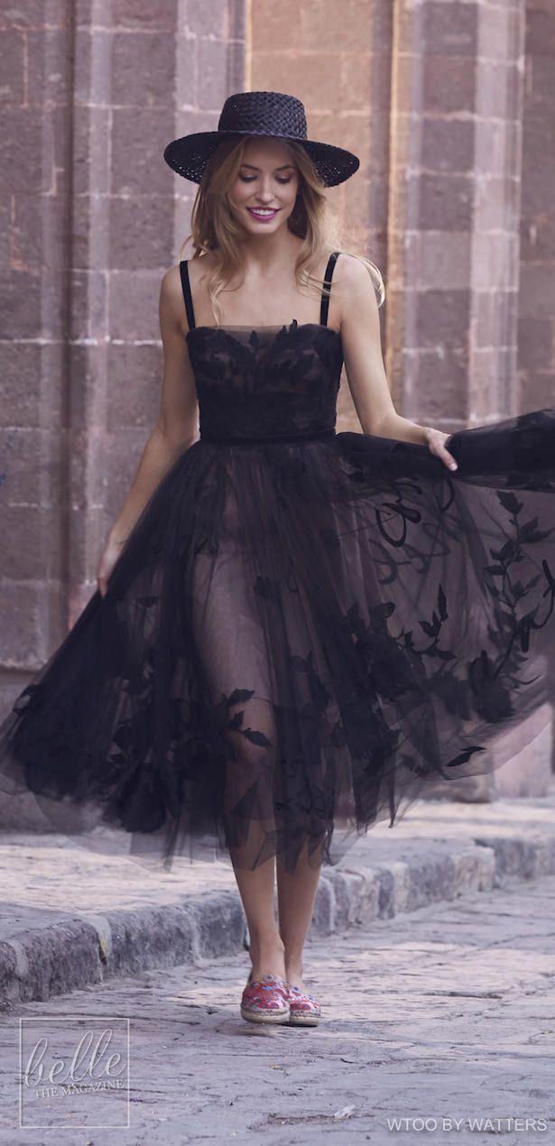 Short Black Wedding Dresses