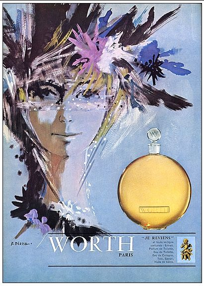 Worth  Je Reviens   Vintage Perfume ad The Non-Blonde blog