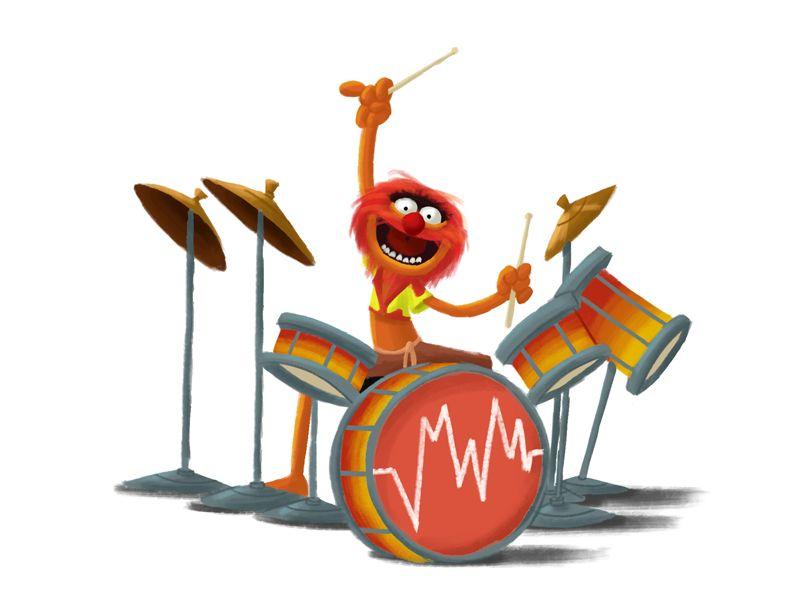 Animal Drummer Illustration