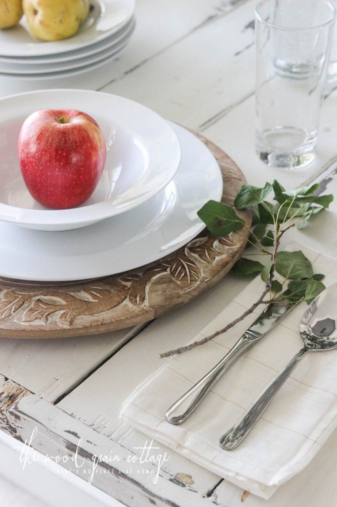 Fall Table Setting - The Wood Grain Cottage