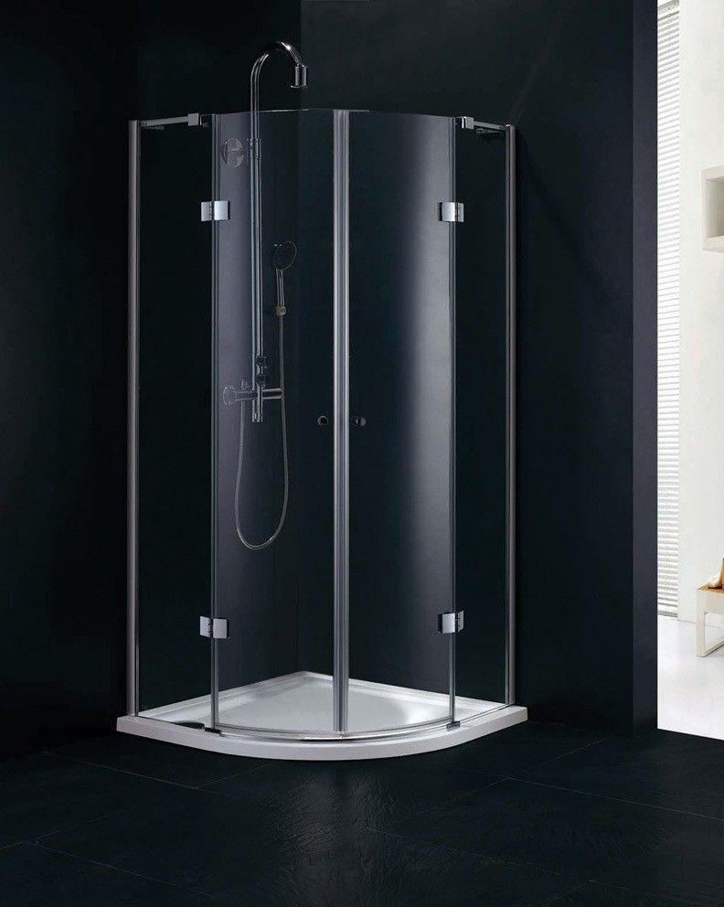 Fortuna 900 X 900 Frameless Quadrant Shower Enclosure Quadrant Shower Quadrant Shower Enclosures Shower Enclosure