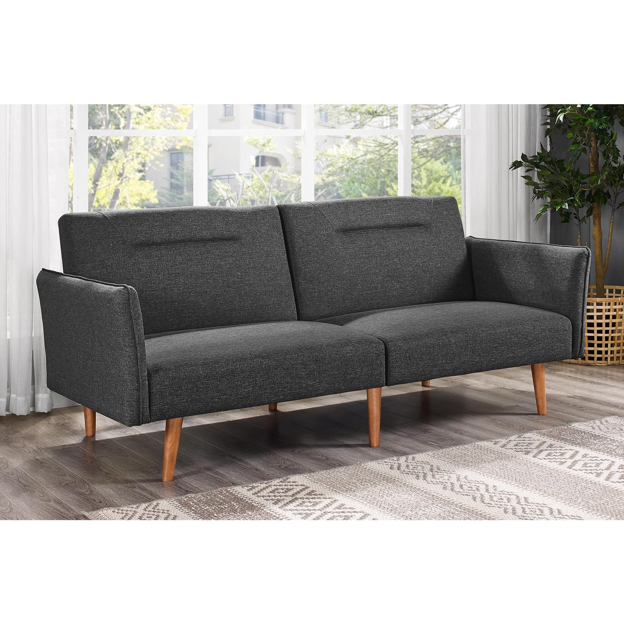 Dhp B Futon Boasting Both Form And Function The Means Entertaining Guests Is As Stylish It Simple This Two Position Adjule