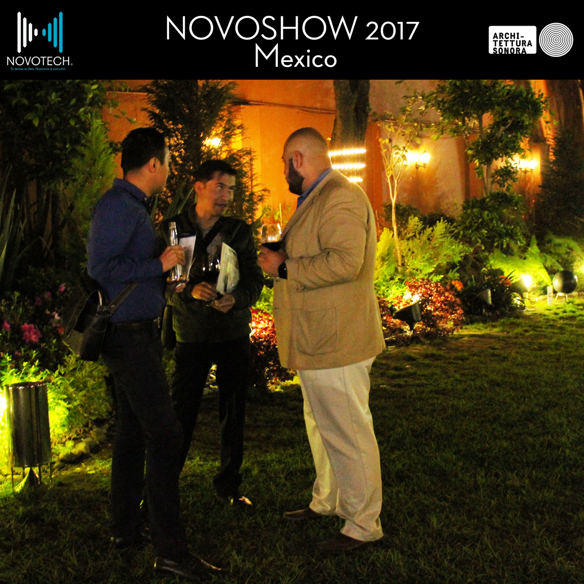 We are very grateful to our friends from Novotech for their amazing event Novoshow 2017, where they introduced all the best innovations and trends in the AV world within a magnificent modernist architecture setting... Architettura Sonora included of course.  Muchas gracias! #Novoshow #Mexico #ArchitetturaSonora