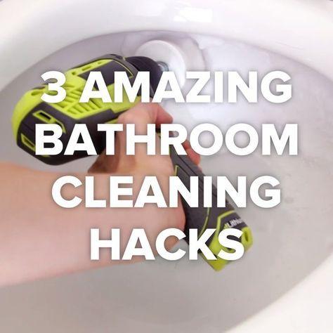 3 Best Bathroom Cleaning Tricks [Video] | Bathroom