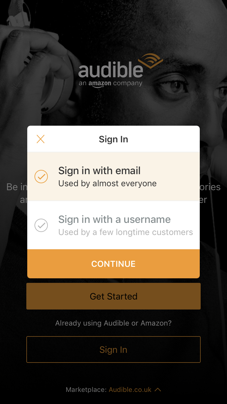 Amazon Audible Login Audible S Directional Nudge Login Walls Frustrate Users