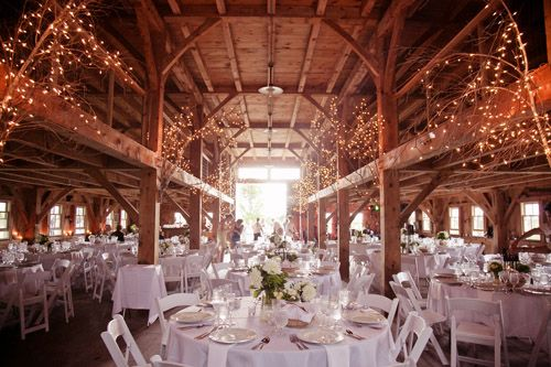 Rustic outdoor New Hampshire barn wedding - photo by Emily Delamater Photography | via junebugweddings.com