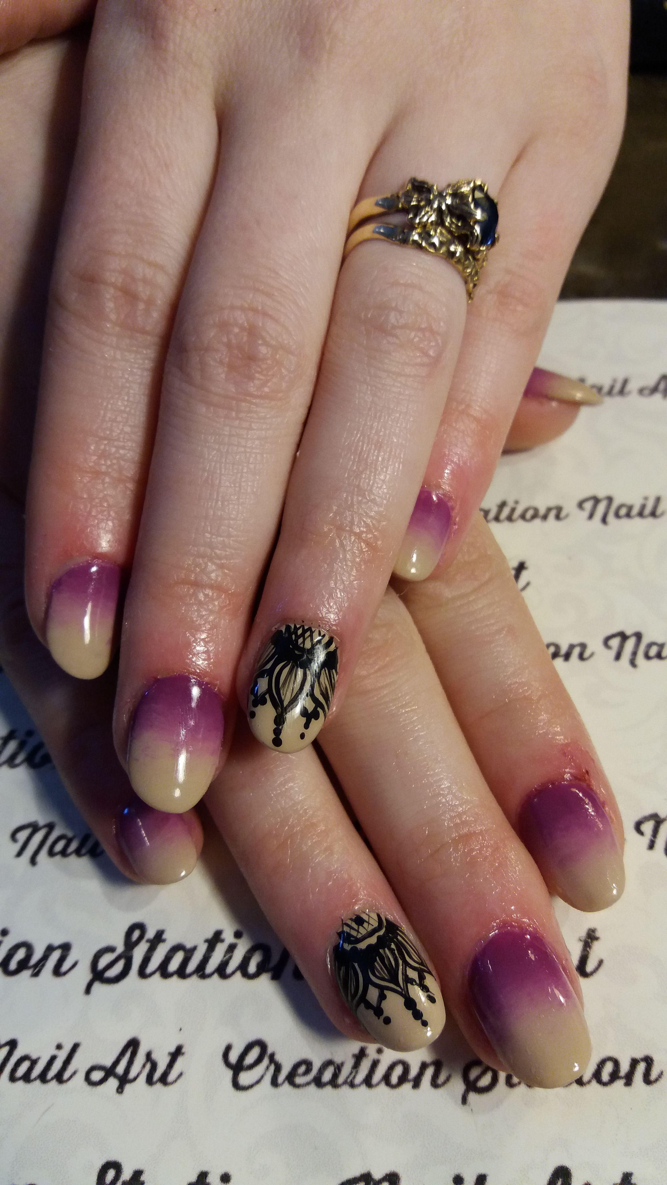 Henna Nails   Henna nails, Luxury nails, Pink acrylic nails