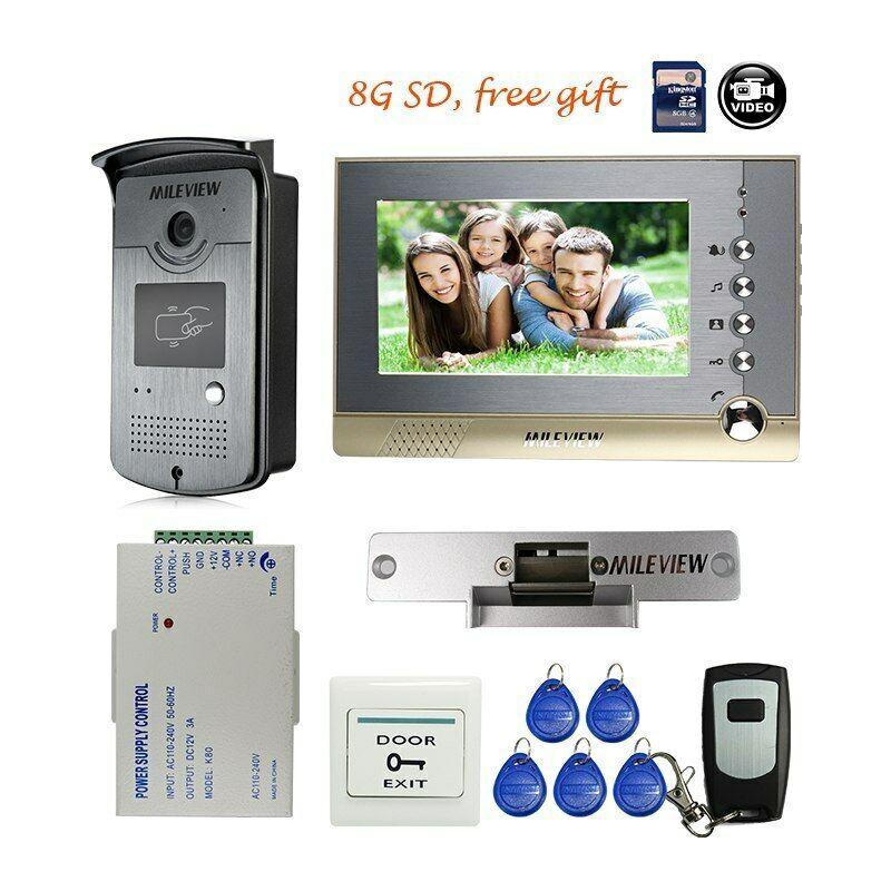 Details About 7 Record Video Intercom Door Phone Rfid Access Doorbell Camera Strike Door Lock Doorbell Camera Intercom Phone