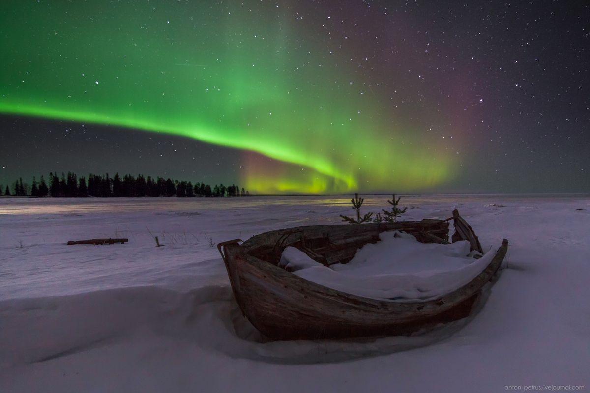 Небо крайнего севера фото ночью