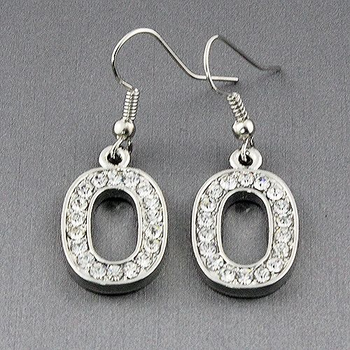 Crystal Number Earrings Roximately 1 75 In Length Fashion Jewelry Whole