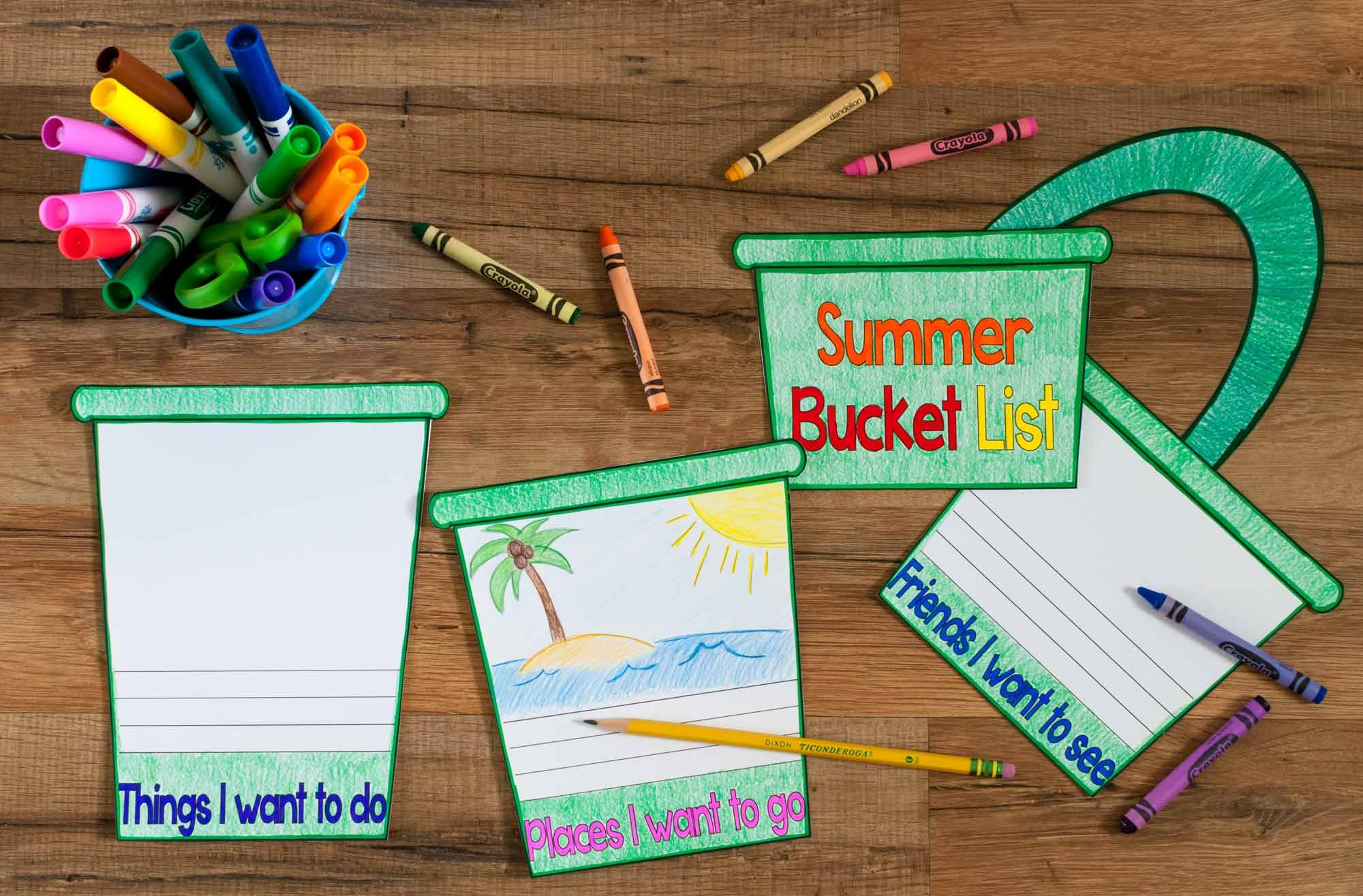 Summer Bucket List Craftivity What I Have Learned