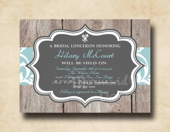 Rustic Bridal Shower Invitation, Wedding Shower Invitation, Baby