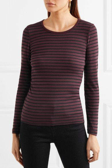 Venice Striped Jersey Top - Plum Splendid We5WlR01PP