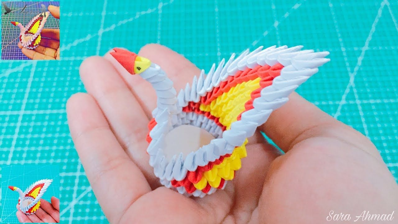 How to Make a 3D Paper Origami Swan : 7 Steps (with Pictures ... | 720x1280