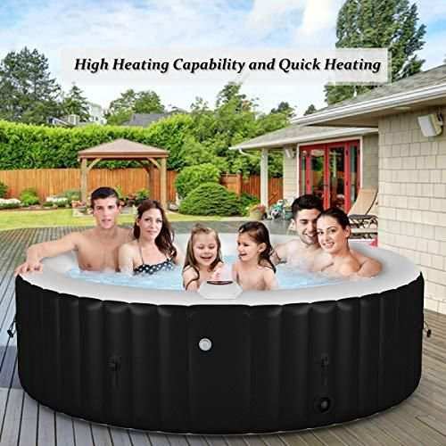 Goplus 4 6 Person Outdoor Spa Inflatable Hot Tub For Portable Jets