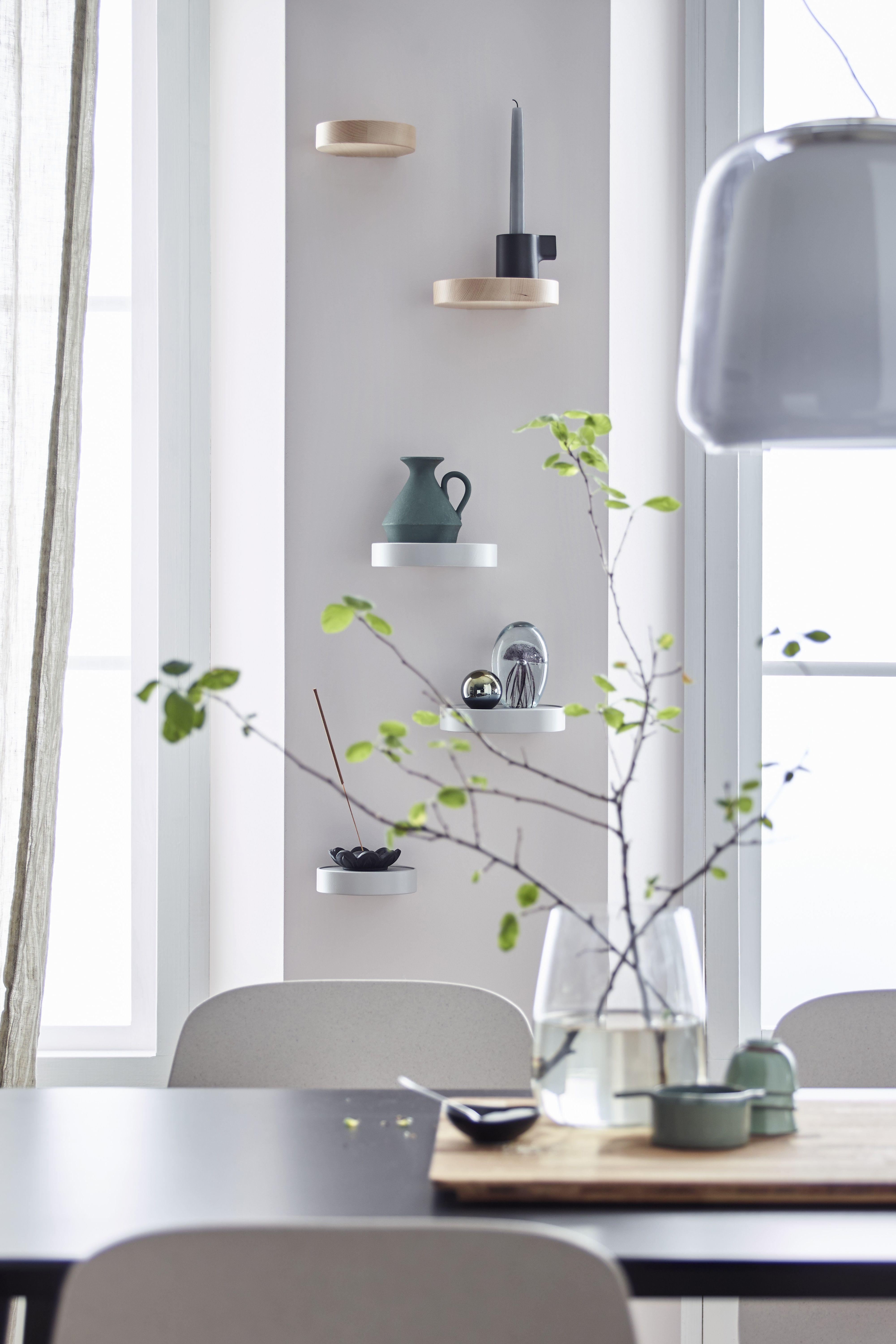 Sammanhang Wandregal Metall Glas Wanddekowohnzimmer Ikea