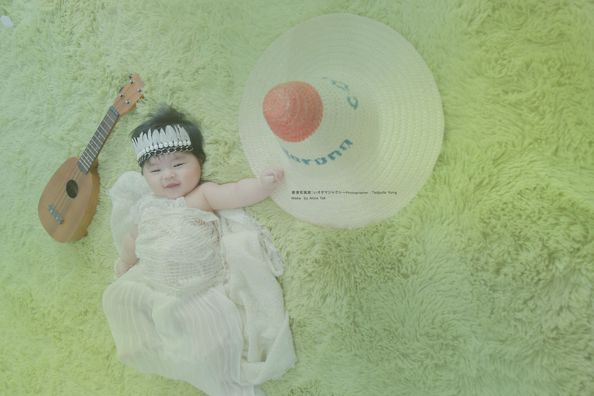 Kid newborn baby girl portrait happy life photographer by tadpole yung tadpole studio kennedytown hong kong happy baby fat cute baby