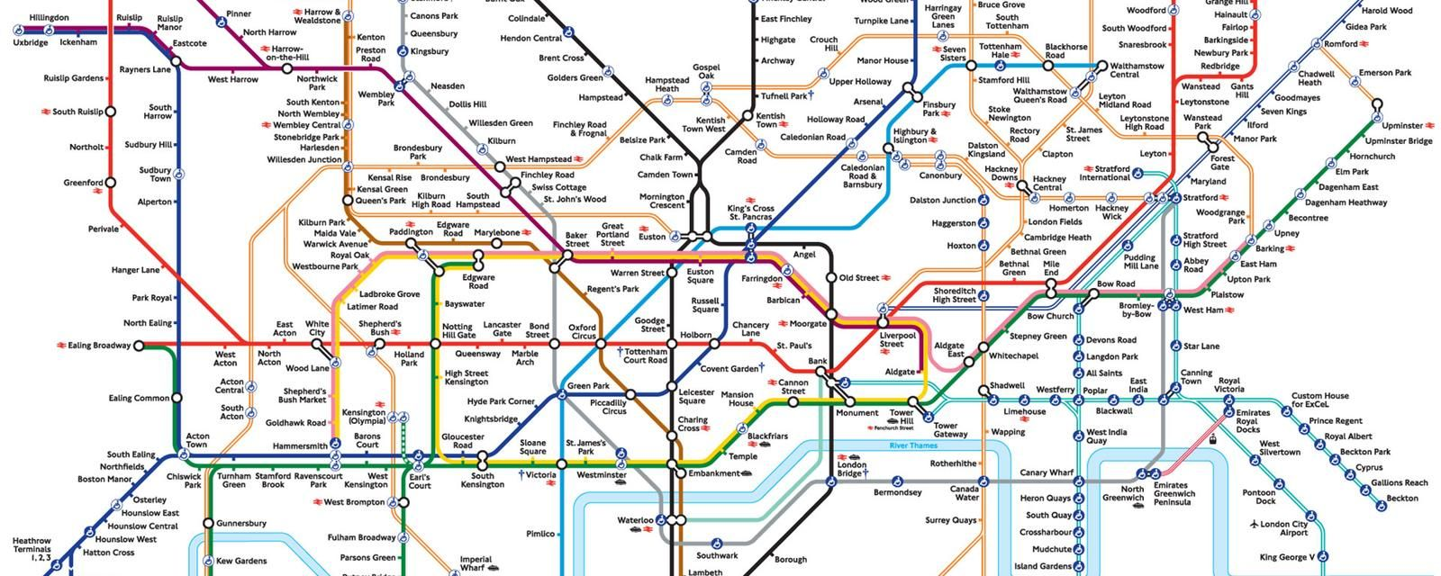 The London Underground map: The design that shaped a city ...