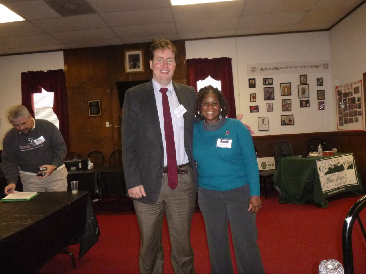 Attorney Evan Guthrie with Danielle Hope Watson of Center For Heirs
