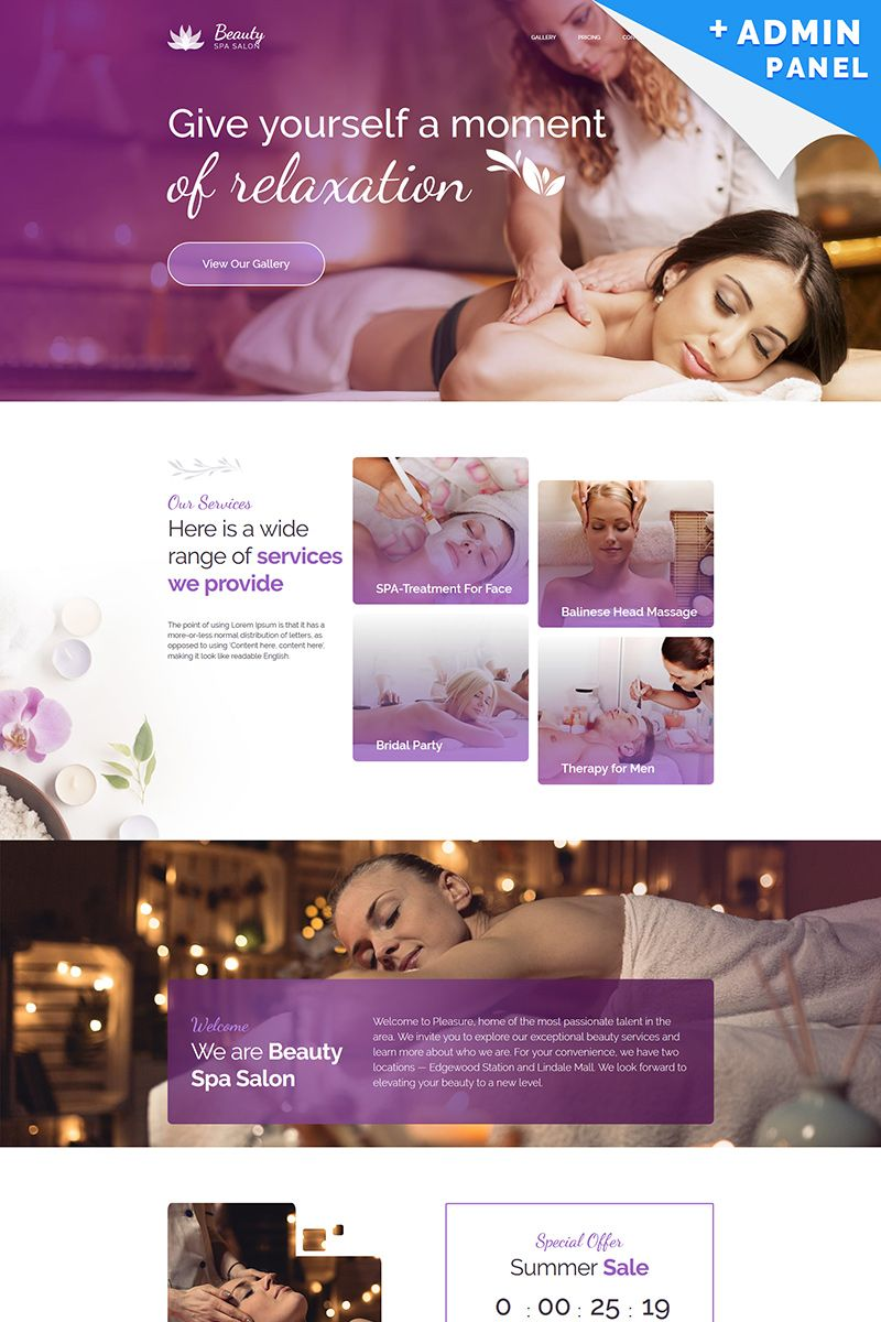 beauty and spa center