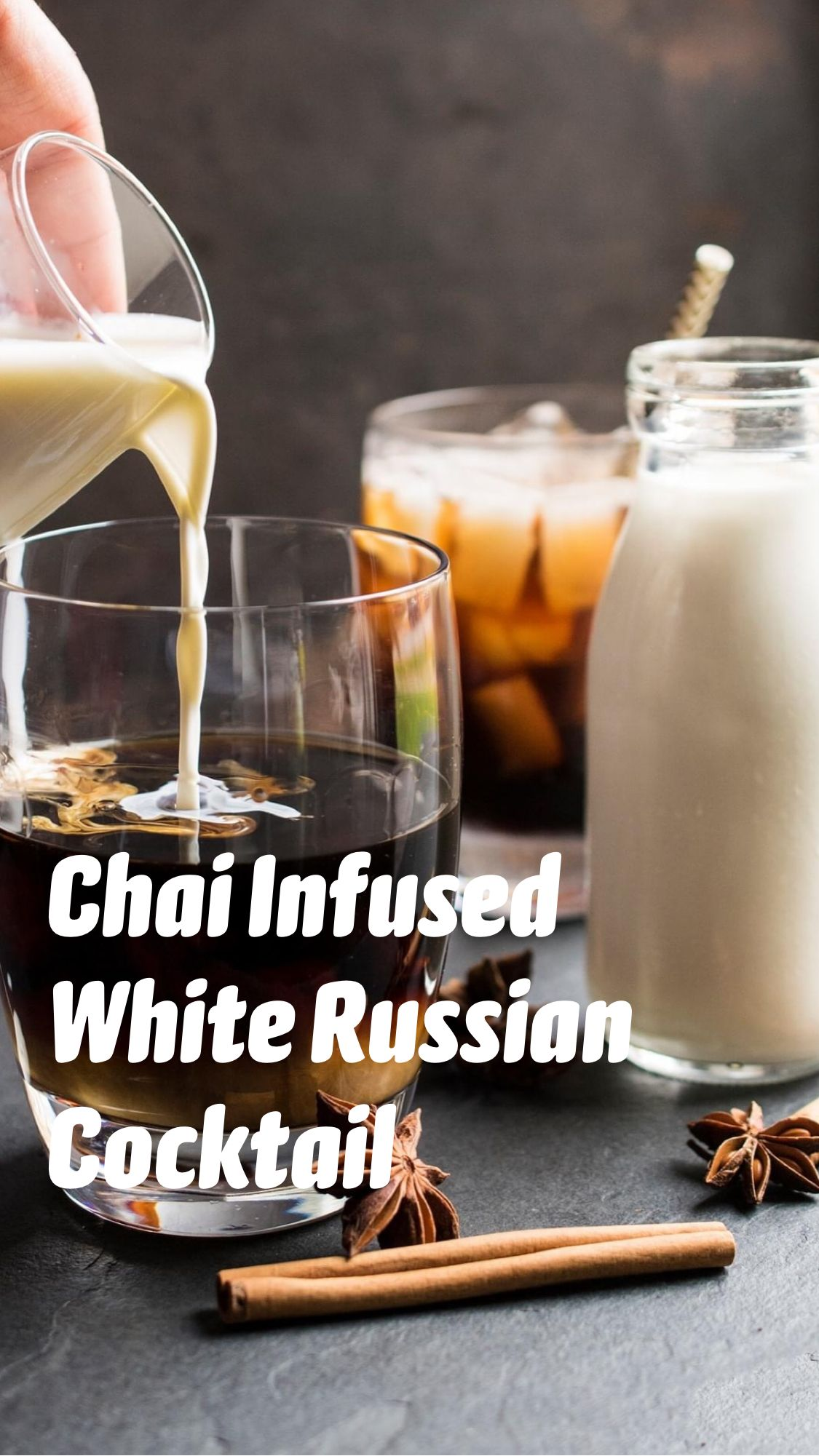 Chai Infused White Russian Cocktail