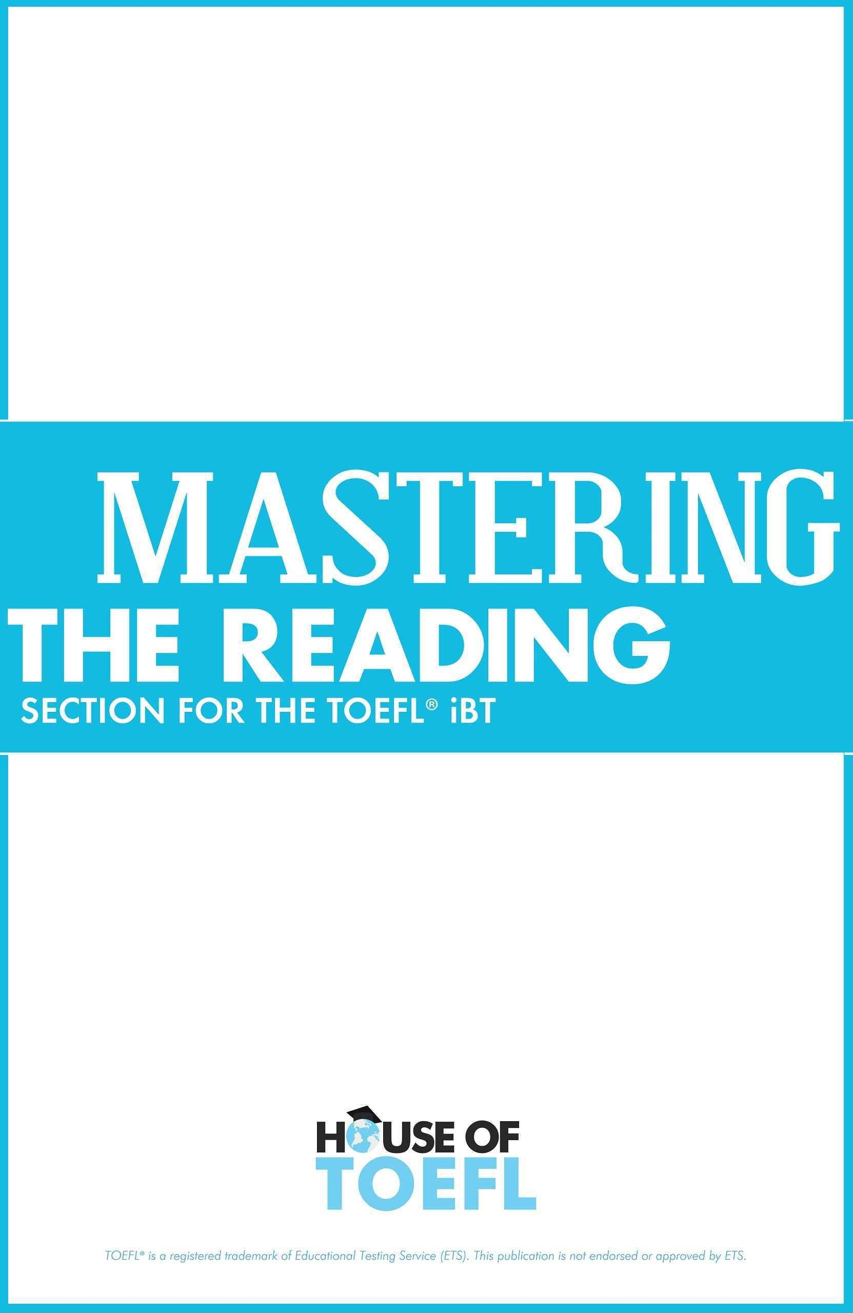 Mastering the Reading Section for the TOEFL iBT by Kathy Spratt