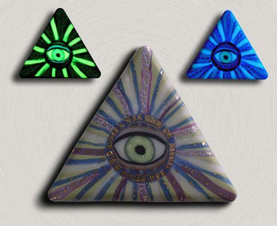 Glow In The Dark All Seeing Eye Illuminati Pyramid By EyeGloArts