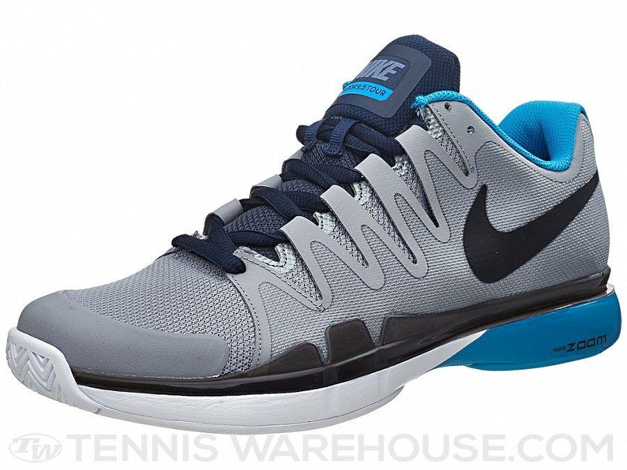 Nike Zoom Vapor 9.5 Tour Grey/Blue Men's Shoe