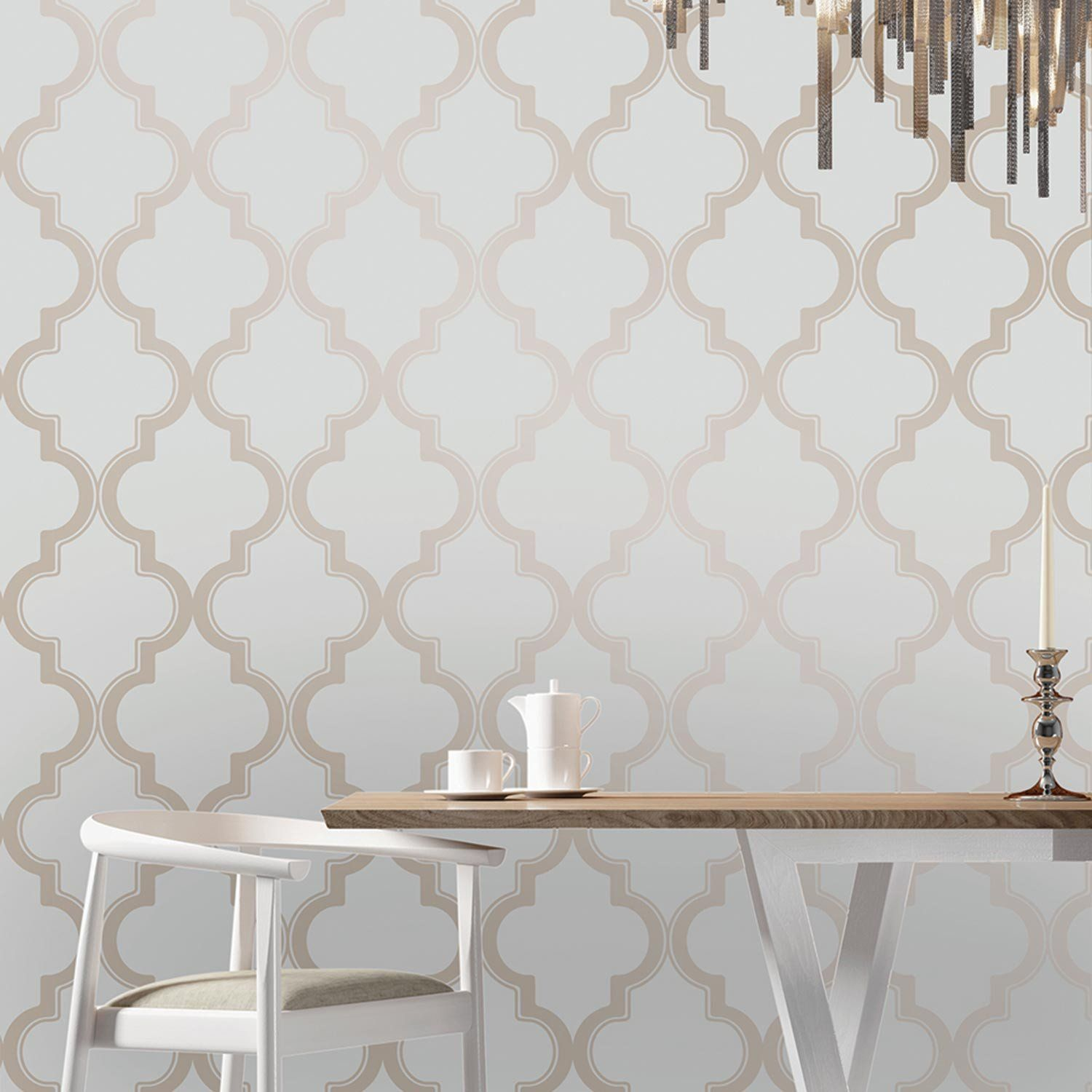 Best Temporary Wallpaper Marrakesh Bronze Gray Temporary 400 x 300