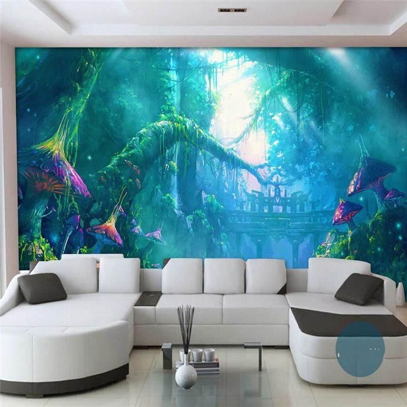 Beibehang Customize any size 3d wallpaper Mushroom Growth Mystery