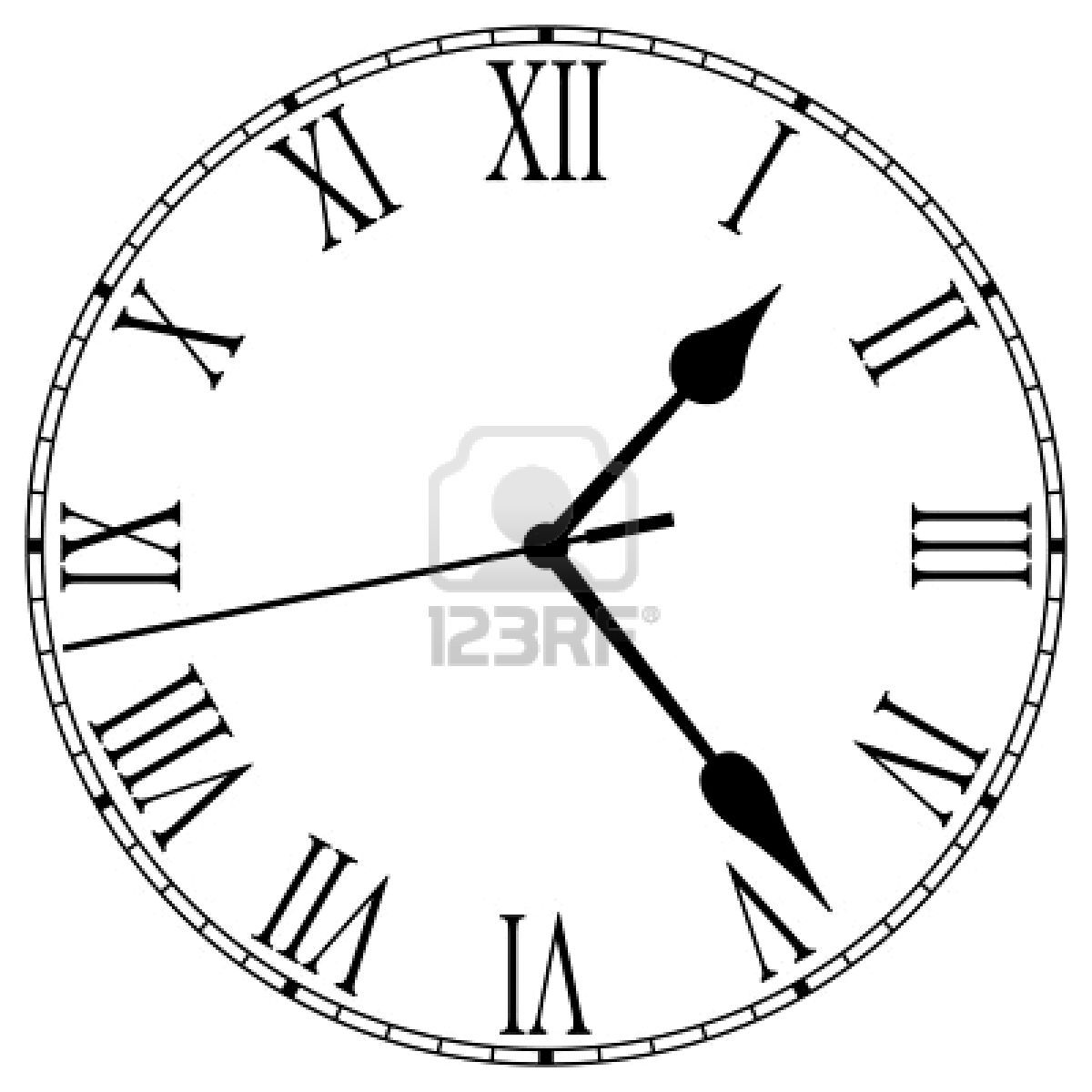 Roman Numeral Clock Template Printable