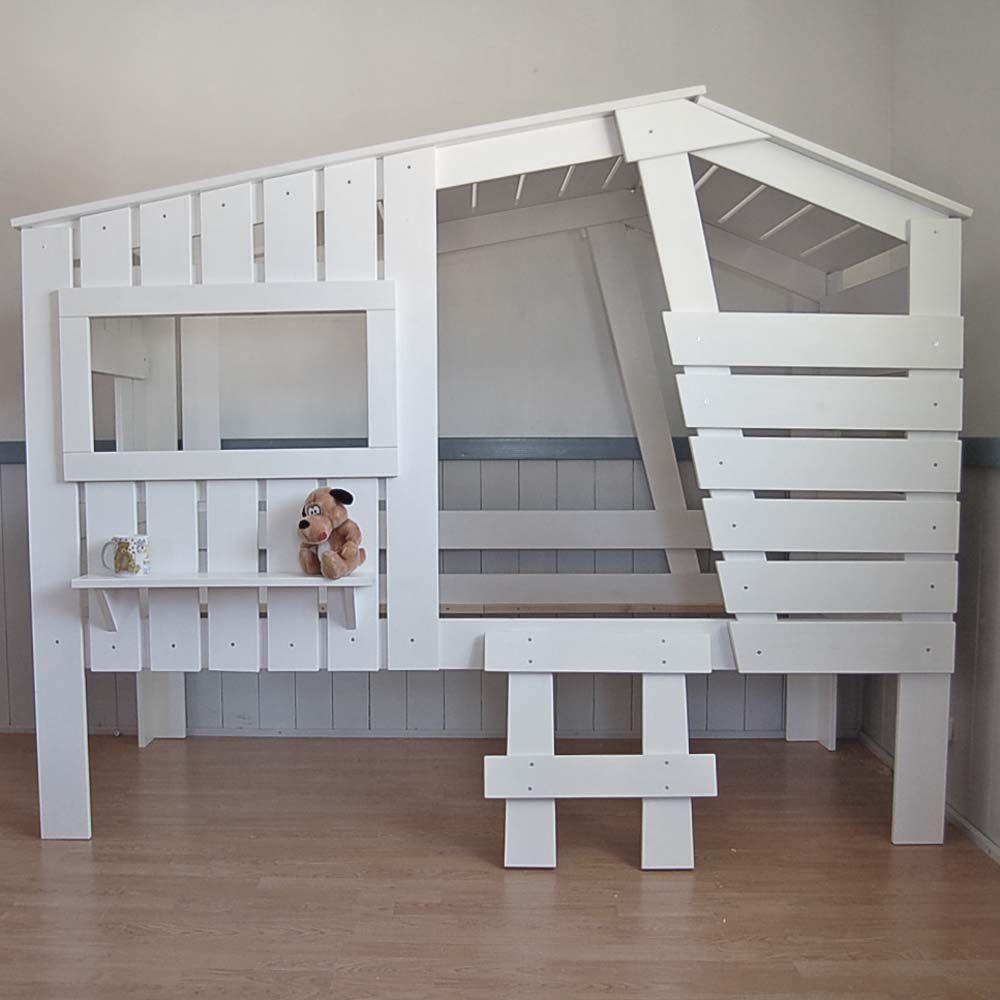 Lounge Zone Höhlenbett Baumhausbett Kinderbett Bett Baumhaus