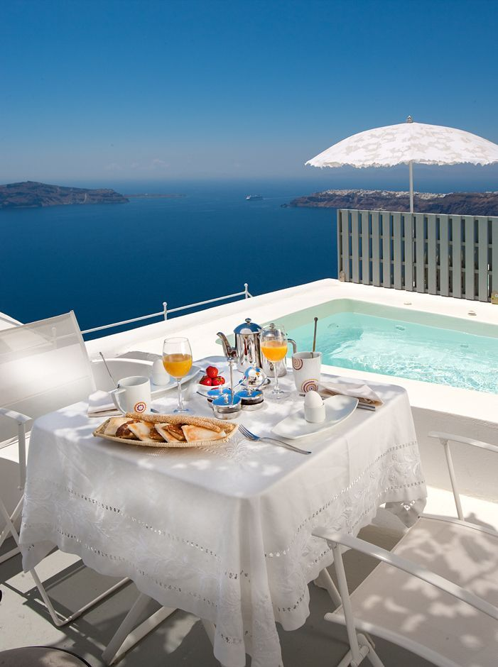 Breakfast View At Grace 5 Star Hotel Santorini You Can Go There