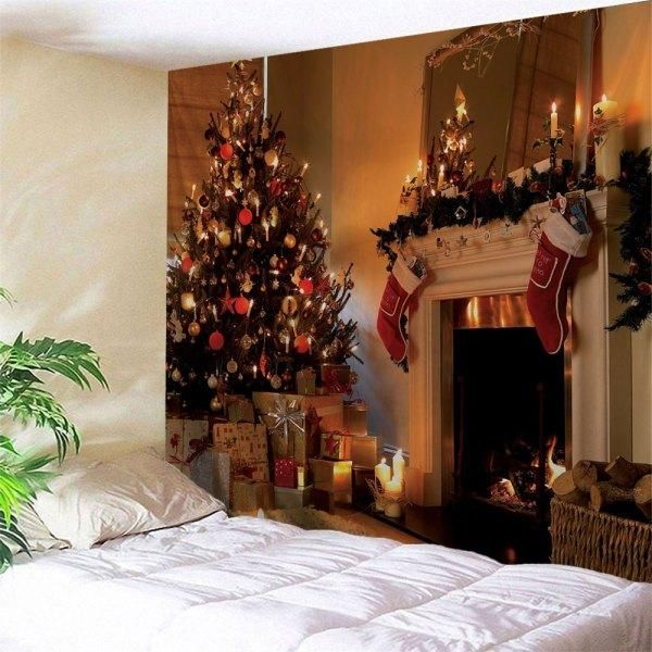 RoseWholesale - #Rosewholesale Christmas Fireplace Print Wall Decor - christmas fireplace decor