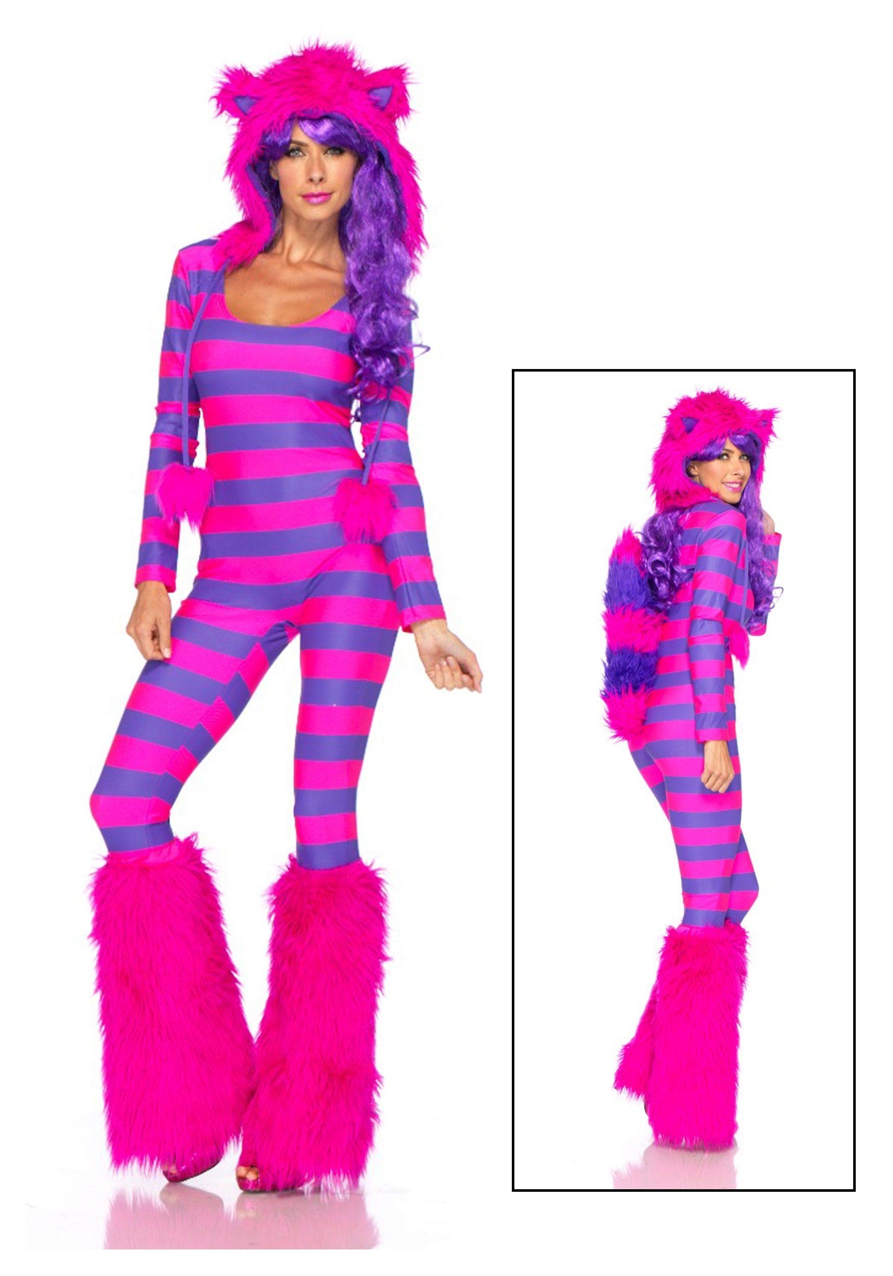 Details Cheshire Cat Costume Adult Halloween Fancy Dress