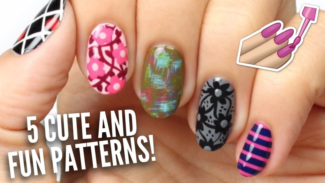 cute u easy patterns for your nails spacepop nails
