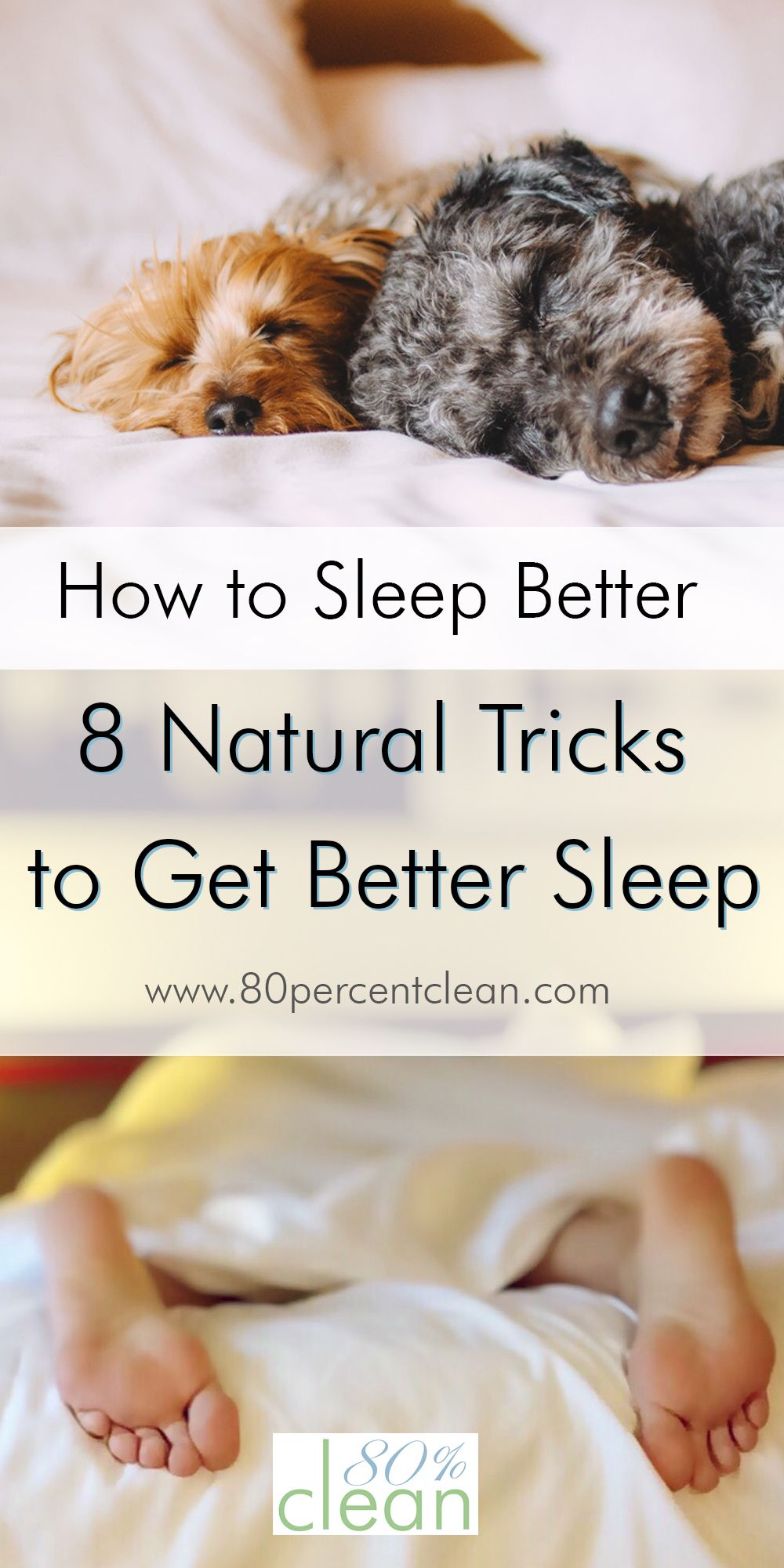 Can't fall or stay asleep? Want to know how to sleep better? Try these 8 natural tricks to get better sleep. No pills or chemicals included.