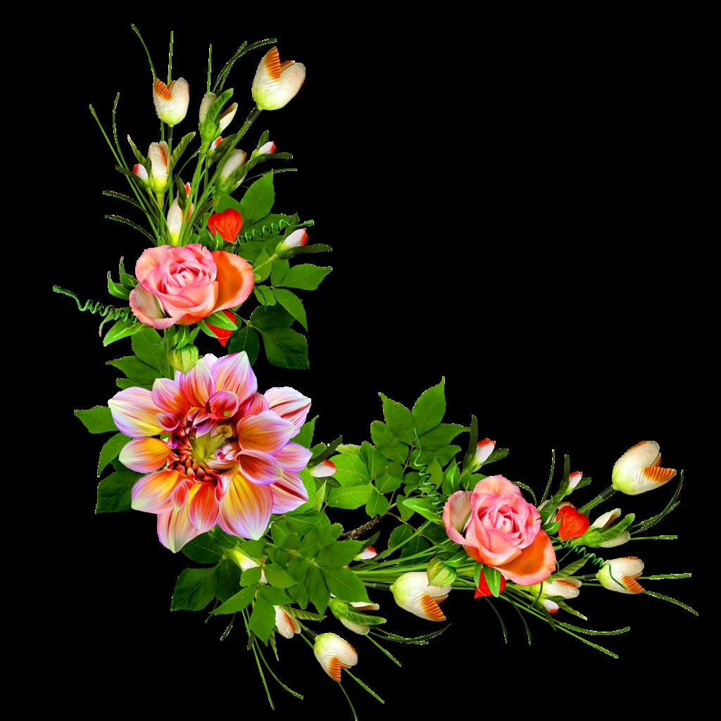 Оформление цветочное в открытки