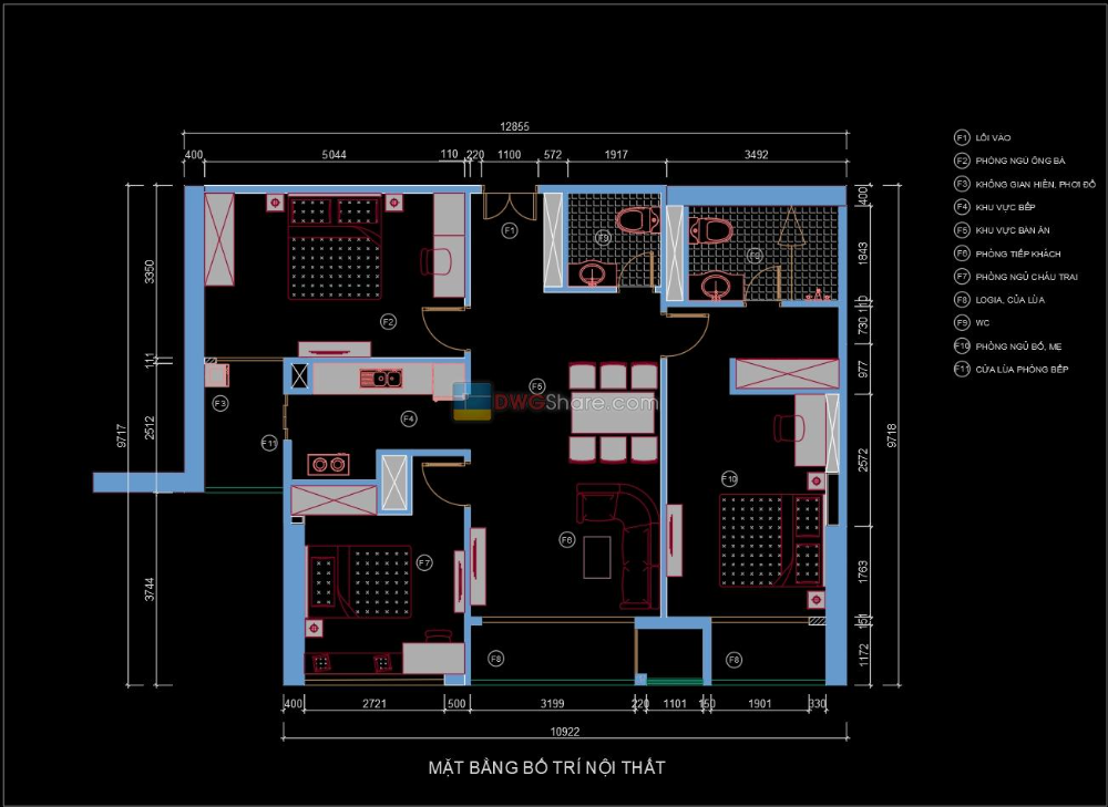 25 Apartment Plan Design AutoCAD File Free