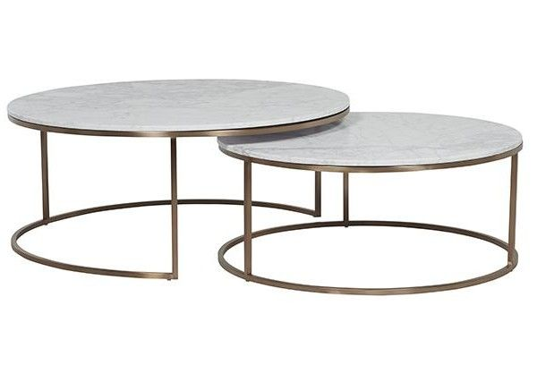 Ellen Middleton 2760 Elle Round Marble Nest Coffee Tables In 2019