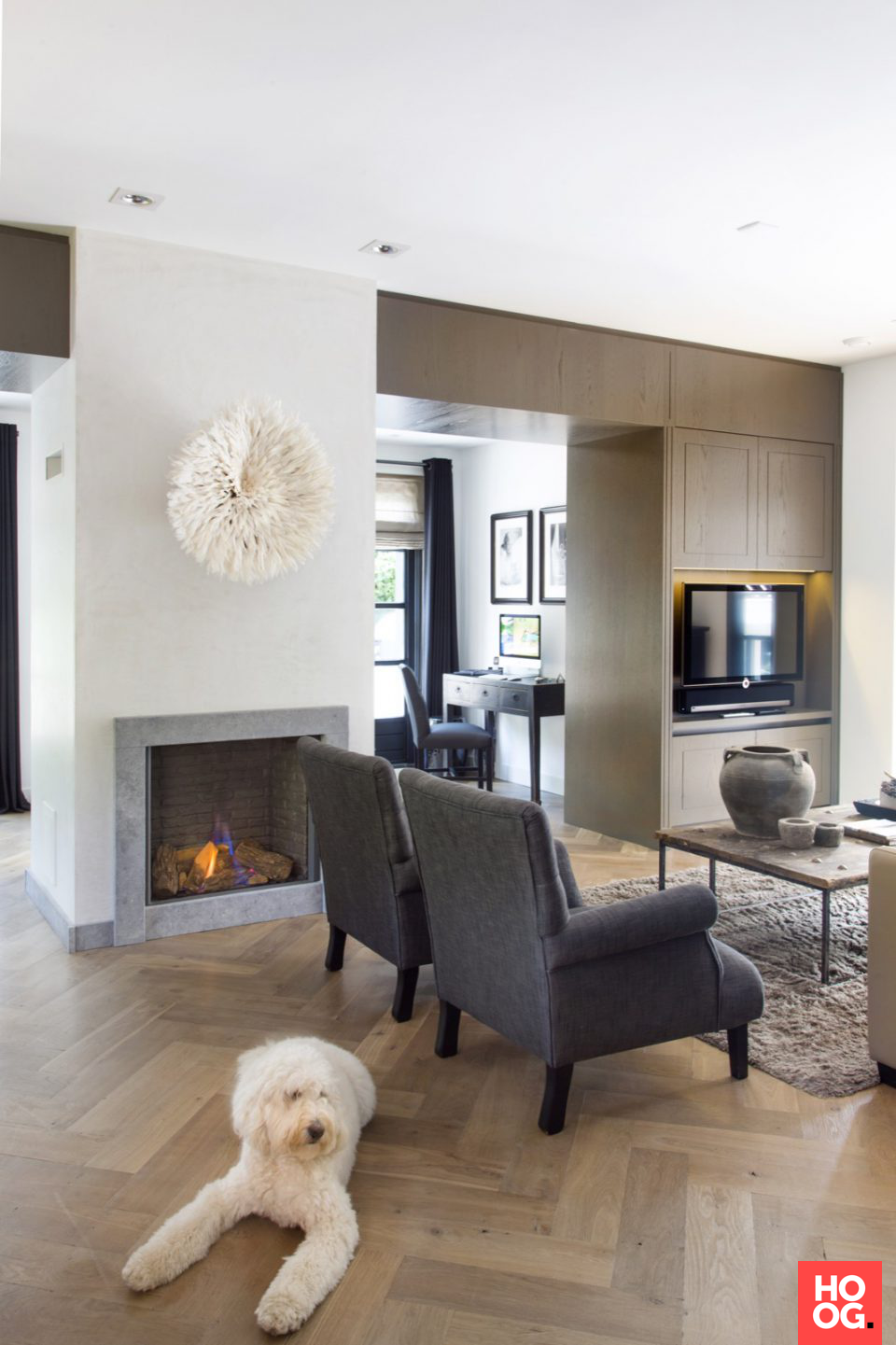 Luxe woonkamer inrichting met luxe meubels  interieur