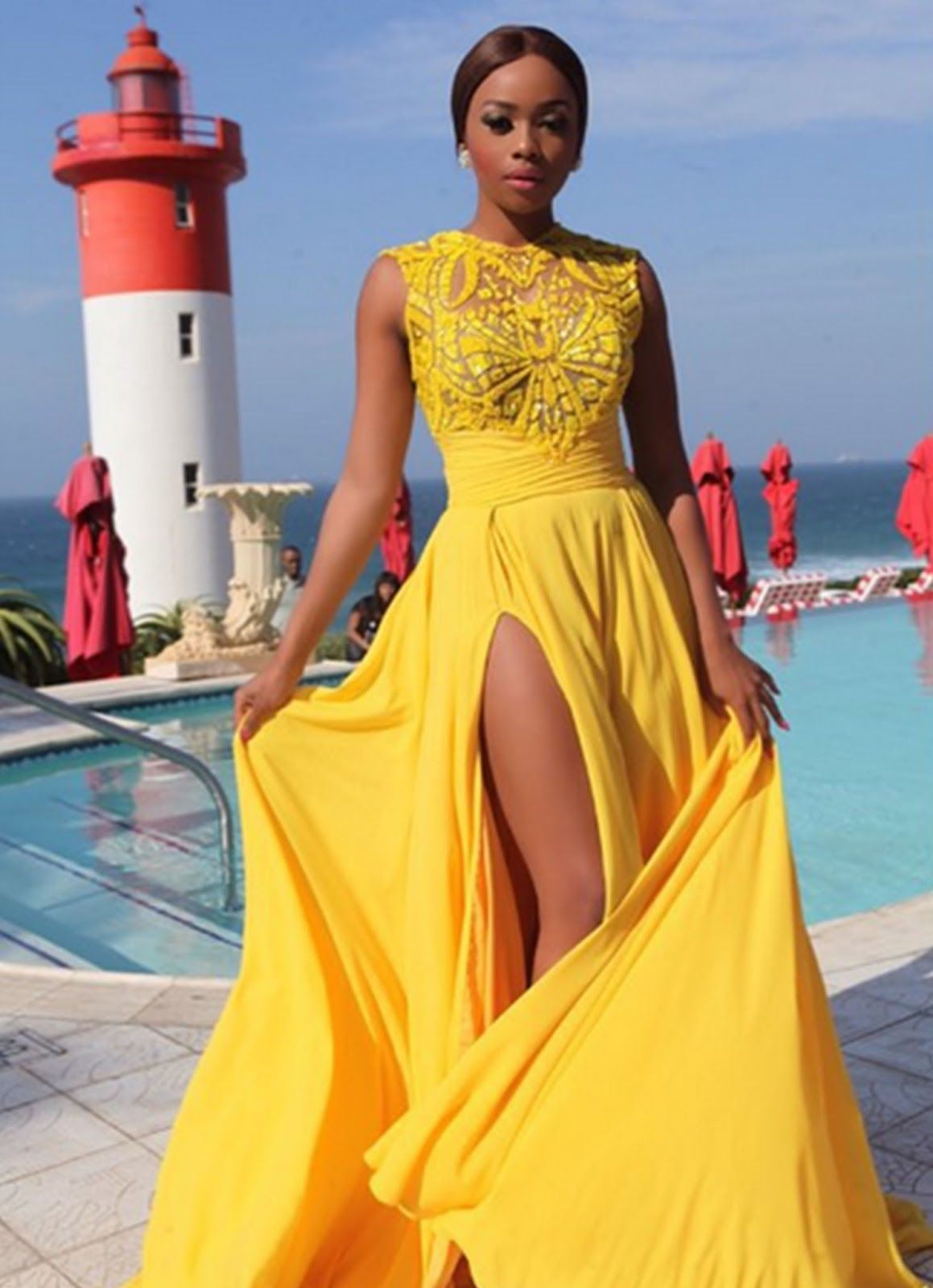 Yellow Prom Dressescharming Evening Dressyellow Prom Gownslace