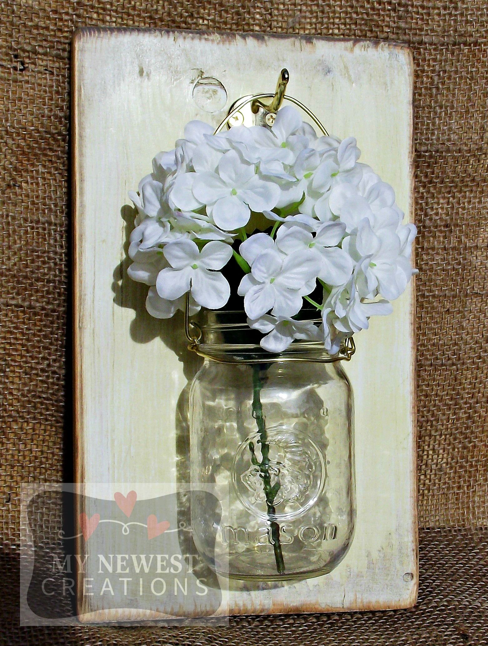 Hanging Mason Jar Wall Sconce My Newest Creations Pinterest