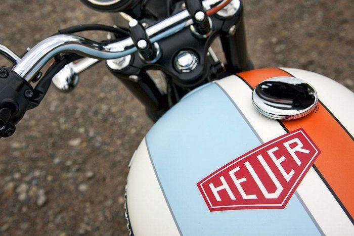Heuer Sticker On A Motorcycle Fuel Tank Heuer Racing Pinterest - Classic motorcycle custom stickers