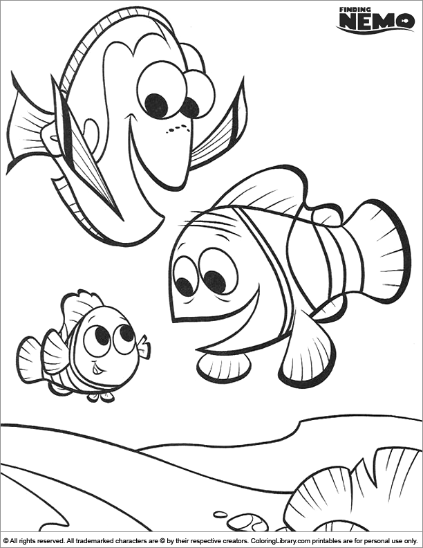 Finding Nemo Coloring Page Free Nemo Coloring Pages Finding Nemo Coloring Pages Finding Nemo Coloring Sheets