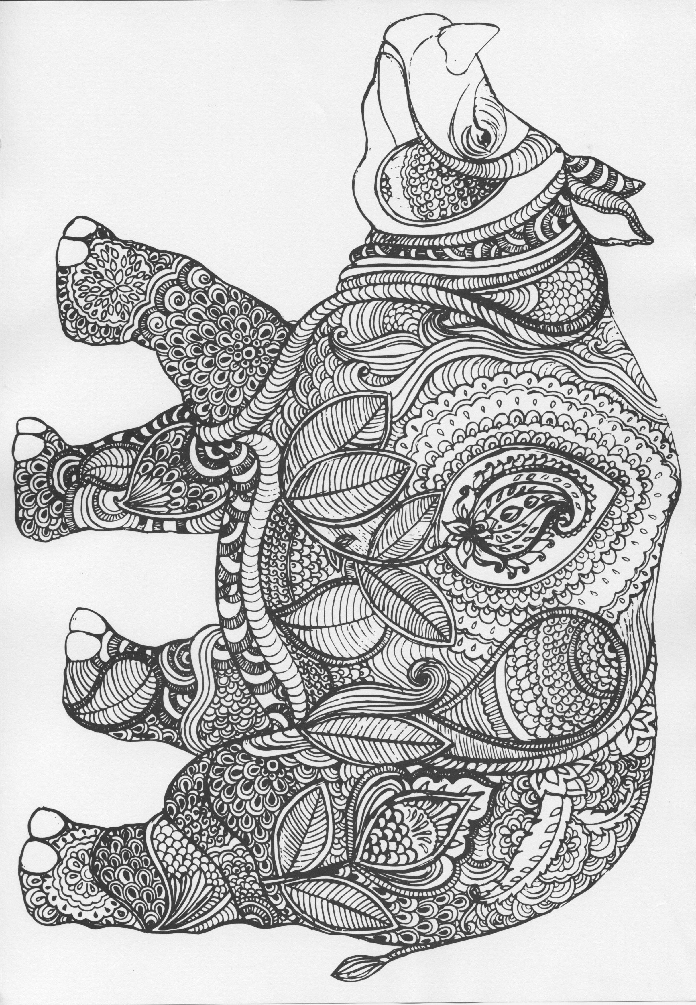Pin de Shirley White Blazek en Designs-Coloring-Animals | Pinterest ...