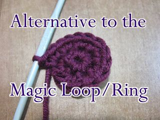 This is an alternative method to the magic circle/loop/ring can be used for a hat, or stuffed animal or anywhere in crochet where you need a tight circle.